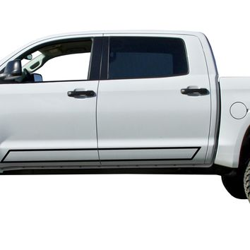 Door stripe Kit Decals Vinyl Stickers Bedside Set: fits Toyota Tundra trucks