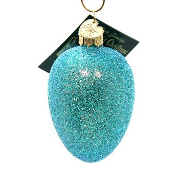 Old World Christmas EASTER EGG Glass Ornament Color Dye 36159 Blue