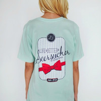Lauren James Life is Better in Seersucker Tee in Mint