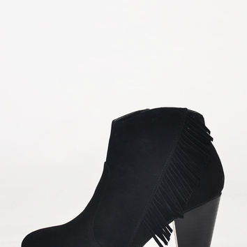 Western Fringe Detailed Booties