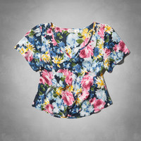 painterly floral top
