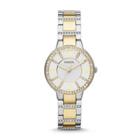 Virginia Two-Toned Watch   Fossil