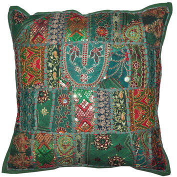 """20"""" Large Decorative Throw Pillow for Couch, Embroidered Cushion Cover, Ethnic Pillow, Cottage Pillow, Tribal Pillow Outdoor sofa pillow"""