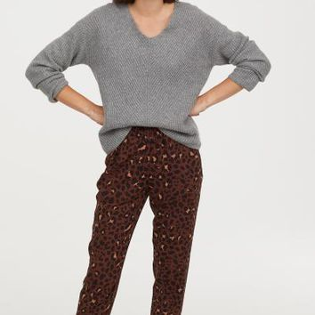 Pull-on Pants - Brown/leopard print - Ladies | H&M US