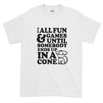 """It's All Fun And Games"" Dog Cone - Short-Sleeve T-Shirt"