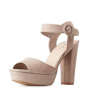 Qupid Two-Piece Platform Sandals | Charlotte Russe