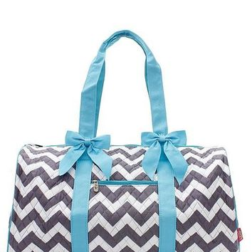 Chevron Print Quilted Duffel Bag - 3 Color Choices
