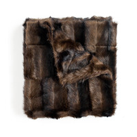 Mink Chocolate faux fur fiber Throw