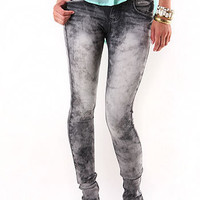 Cloud Wash Skinny Jeans | Skinny Jeans at Pink Ice