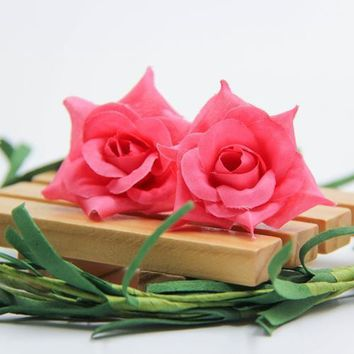 Artificial Silk Rose Flowers Wedding Car Corsage Decoration