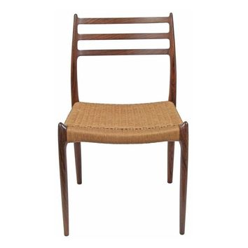 Pre-owned Mid-Century Møller Danish Teak Side Chair Model 78