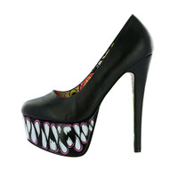 Iron Fist - Timmy Chew Black Womens Super Platform Pumps