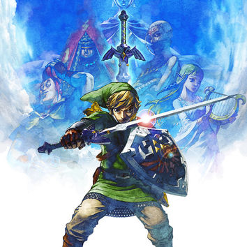 The Legend of Zelda: Skyward Sword Link Video Game Poster 18x24