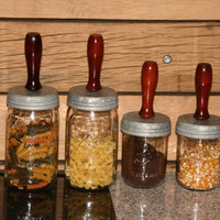 Ball Jar Kitchen Storage Containers - Set of 4 -  --  2 Quart and 2 Pint Containers