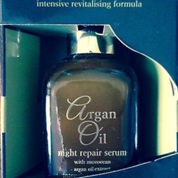 Argan Oil Intensive Revitalising Formula Night Repair Serum Younger Looking Skin
