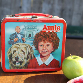 1980's Annie Metal Lunch box by Alladdin by SCrittenden on Etsy