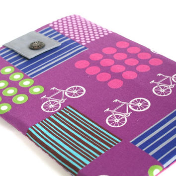 Ultrabook PC Case, Purple Laptop Sleeve 13.3 inch Ultrabook, Bicycle Chromebook Case Cover, bicycle Laptop case