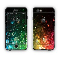The Neon Glowing Grunge Drops Apple iPhone 6 LifeProof Nuud Case Skin Set