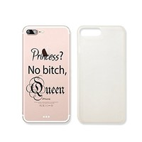 Princess? No Bitch, QueenText Quote Text Slim Iphone 7/8PLUS Case, Text Clear Iphone 6 6S Hard Cover Case For Apple Iphone 7/8PLUS -Emerishop (iphone 7/8PLUS)