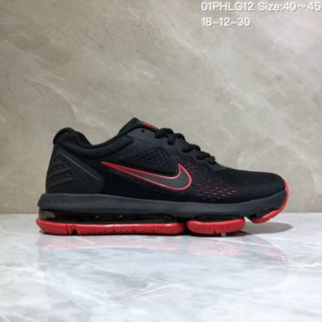 KUYOU N965 Nike Air Max 2019 Cushioned Train Running shoes Black Red