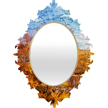 Belle13 An Autumn Day Baroque Mirror