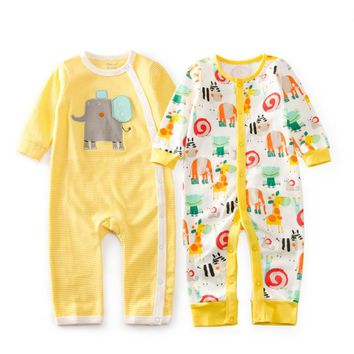 Baby Gift Giraffe Zoo Cotton Rompers Newborn Baby Boy Girl Romper Clothes Jumpsuit Baby Roupa Infantil Menino Kid Set