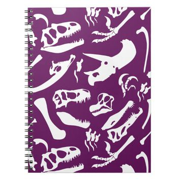 Dinosaur Bones (Purple) Notebook