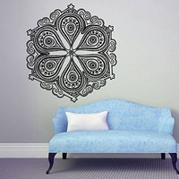 Wall Decals Mandala Yoga Namaste Om Ornament Indian Geometric Moroccan Pattern Decal Vinyl Sticker Home Art Bedroom Home Decor Room Ms343