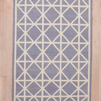 Diamond Stamp Dhurrie Rug