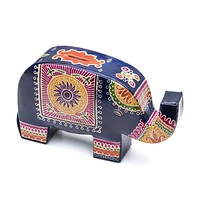 Leather Elephant Coin Bank or Piggy Bank