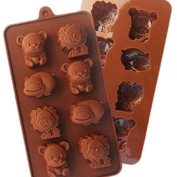Hippo Lion Bear Shape Silicone Mold, Jelly, Chocolate, Soap ,Cake Decorating DIY Kitchenware ,Bakeware L021