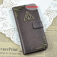Harry Potter Deathly Hallows Charm Wallet iPhone 6, iPhone 6 Plus case, iPhone 5, 5s, 5c, 4, 4s, Samsung Galaxy S3, S4, S5,  Note 2, note 3
