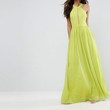 TD By True Decadence Tall Plunge Front Maxi Dress at asos.com