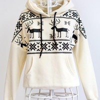 Christmas Deer Pattern Unisex Hoodies [9600582415]