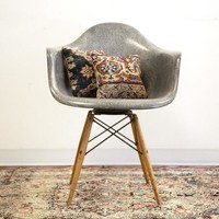 Rare Eames PAW Rope Edge Seng Swivel Chair in Elephant Grey