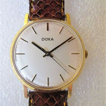 Doxa Vintage 1970's Hand Winding Pre-Owned Mens Dress Watch....35mm