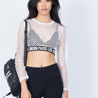 Fashion Capital Fishnet Top