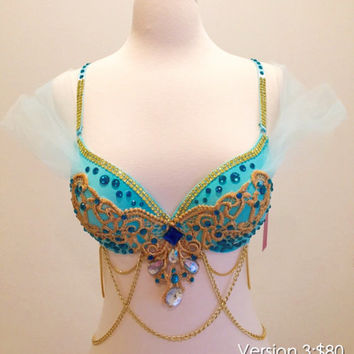 Princess Jasmine,Fancy Look  Rave bra, Festival outfit.