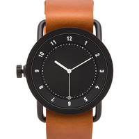TID Watches No. 1 in Black & Tan Leather
