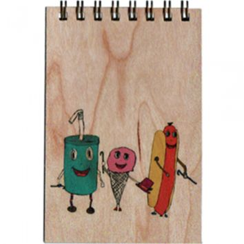 Wood Notepad Food Groups Small