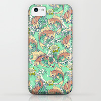 Golden Koi Fish in Pond iPhone & iPod Case by Spice