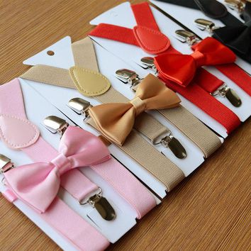 Boys Suspenders & Bow Tie (Adjustable)