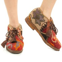 Vintage 90's Turkish Tapestry Boots - US 7