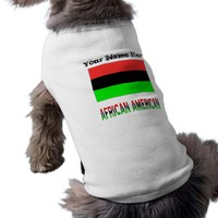 African Diaspora Flag and African American Name Tee