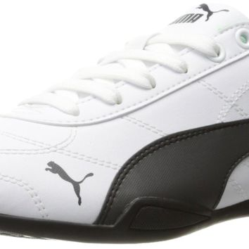 PUMA Kids' Tune Cat 3 Jr Sneaker Puma White-asphalt Big Kid (8-12 Years) 6 M US Big Ki