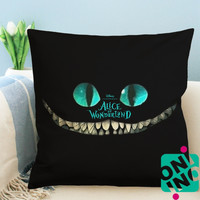 Chesire Cat Alice in Wonderland Zippered Pillow Case, Cushion Case, Pillow case