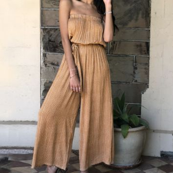 Spring and summer fashion jumpsuits without bombing holiday style striped trousers women's tube top section jumpsuit tide