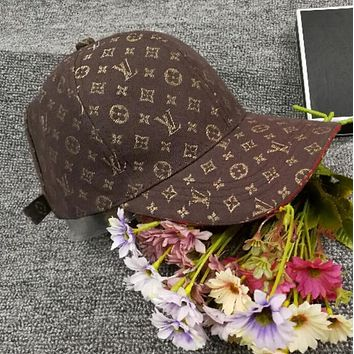 LV Popular Women Men Embroidery Sports Sun Hat Baseball Cap Hat