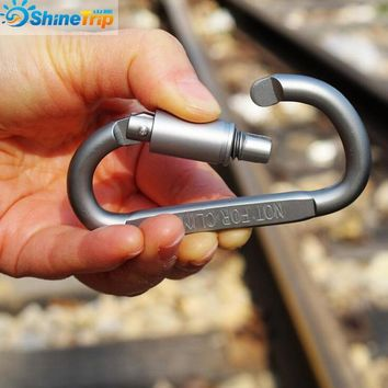 10PCS 8* 4.2cm Outdoor Sports Aluminium Alloy Safety Buckle Keychain Climbing Button Carabiner Camping Hiking Hook free shipping