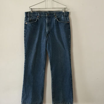 Vintage 1970s Levi 517 Orange Tab Excellent Condition Boot Cut 36x28